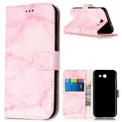 Pink Marble PU Leather Wallet Case for Samsung Galaxy J3 2017 Emerge