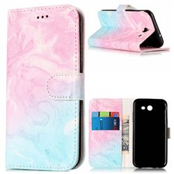 Pink Green Marble PU Leather Wallet Case for Samsung Galaxy J3 2017 Emerge