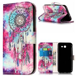 Butterfly Chimes PU Leather Wallet Case for Samsung Galaxy J3 2017 Emerge
