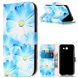 Orchid Flower PU Leather Wallet Case for Samsung Galaxy J3 2017 Emerge