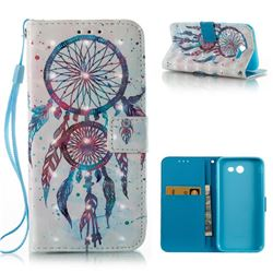 ColorDrops Wind Chimes 3D Painted Leather Wallet Case for Samsung Galaxy J3 2017 Emerge