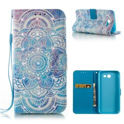 Mandala 3D Painted Leather Wallet Case for Samsung Galaxy J3 2017 Emerge