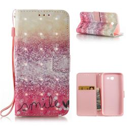 Desert Smile 3D Painted Leather Wallet Case for Samsung Galaxy J3 2017 Emerge