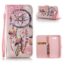 Bead Wind Chimes 3D Painted Leather Wallet Case for Samsung Galaxy J3 2017 Emerge