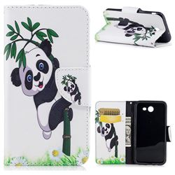 Bamboo Panda Leather Wallet Case for Samsung Galaxy J3 2017 Emerge
