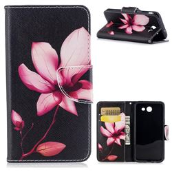 Lotus Flower Leather Wallet Case for Samsung Galaxy J3 2017 Emerge