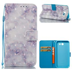 Green Gray Marble 3D Painted Leather Wallet Case for Samsung Galaxy J3 2017 Emerge