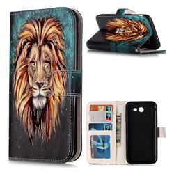 Ice Lion 3D Relief Oil PU Leather Wallet Case for Samsung Galaxy J3 2017 Emerge US Edition