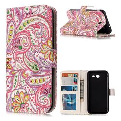 Pepper Flowers 3D Relief Oil PU Leather Wallet Case for Samsung Galaxy J3 2017 Emerge US Edition