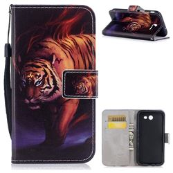 Mighty Tiger PU Leather Wallet Case for Samsung Galaxy J3 2017 Emerge US Edition