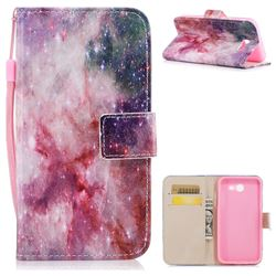 Cosmic Stars PU Leather Wallet Case for Samsung Galaxy J3 2017 Emerge US Edition