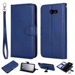 Retro Greek Detachable Magnetic PU Leather Wallet Phone Case for Samsung Galaxy J3 2017 Emerge US Edition - Blue