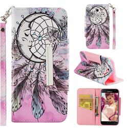 Angel Monternet Big Metal Buckle PU Leather Wallet Phone Case for Samsung Galaxy J3 2017 Emerge US Edition