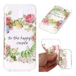Green Leaf Rose Super Clear Soft TPU Back Cover for Samsung Galaxy J3 2017 J330 Eurasian