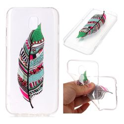 Green Feathers Super Clear Soft TPU Back Cover for Samsung Galaxy J3 2017 J330 Eurasian