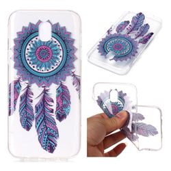 Blue Wind Chimes Super Clear Soft TPU Back Cover for Samsung Galaxy J3 2017 J330 Eurasian
