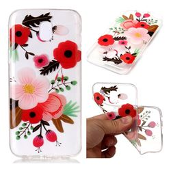 Painting Flowers Super Clear Soft TPU Back Cover for Samsung Galaxy J3 2017 J330 Eurasian