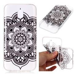 Black Mandala Flower Super Clear Soft TPU Back Cover for Samsung Galaxy J3 2017 J330 Eurasian