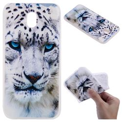 White Leopard 3D Relief Matte Soft TPU Back Cover for Samsung Galaxy J3 2017 J330 Eurasian