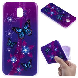 Butterfly Flowers 3D Relief Matte Soft TPU Back Cover for Samsung Galaxy J3 2017 J330 Eurasian