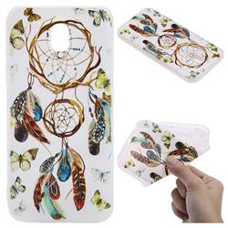 Color Wind Chimes 3D Relief Matte Soft TPU Back Cover for Samsung Galaxy J3 2017 J330 Eurasian