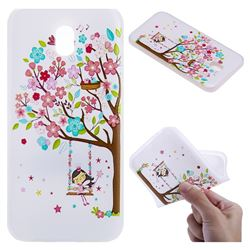 Tree and Girl 3D Relief Matte Soft TPU Back Cover for Samsung Galaxy J3 2017 J330 Eurasian