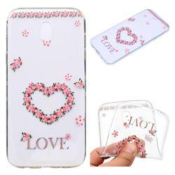 Heart Garland Super Clear Soft TPU Back Cover for Samsung Galaxy J3 2017 J330 Eurasian