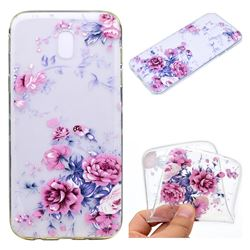 Peony Super Clear Soft TPU Back Cover for Samsung Galaxy J3 2017 J330 Eurasian