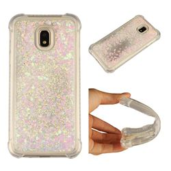 Dynamic Liquid Glitter Sand Quicksand Star TPU Case for Samsung Galaxy J3 2017 J330 Eurasian - Pink