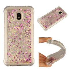 Dynamic Liquid Glitter Sand Quicksand Star TPU Case for Samsung Galaxy J3 2017 J330 Eurasian - Rose