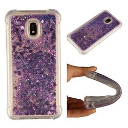 Dynamic Liquid Glitter Sand Quicksand Star TPU Case for Samsung Galaxy J3 2017 J330 Eurasian - Purple