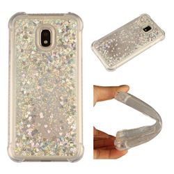 Dynamic Liquid Glitter Sand Quicksand Star TPU Case for Samsung Galaxy J3 2017 J330 Eurasian - Silver