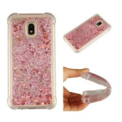 Dynamic Liquid Glitter Sand Quicksand Star TPU Case for Samsung Galaxy J3 2017 J330 Eurasian - Diamond Rose