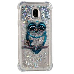 Sweet Gray Owl Dynamic Liquid Glitter Sand Quicksand Star TPU Case for Samsung Galaxy J3 2017 J330 Eurasian