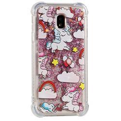 Angel Pony Dynamic Liquid Glitter Sand Quicksand Star TPU Case for Samsung Galaxy J3 2017 J330 Eurasian