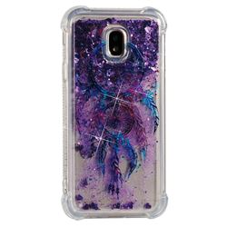Retro Wind Chimes Dynamic Liquid Glitter Sand Quicksand Star TPU Case for Samsung Galaxy J3 2017 J330 Eurasian