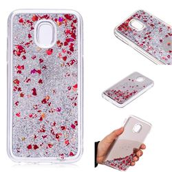 Glitter Sand Mirror Quicksand Dynamic Liquid Star TPU Case for Samsung Galaxy J3 2017 J330 Eurasian - Red