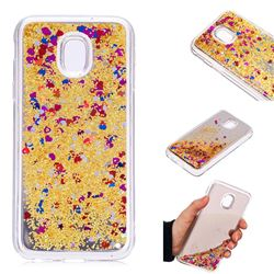 Glitter Sand Mirror Quicksand Dynamic Liquid Star TPU Case for Samsung Galaxy J3 2017 J330 Eurasian - Yellow