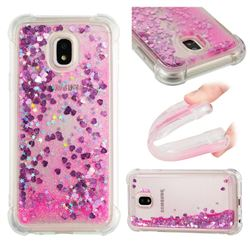 Dynamic Liquid Glitter Sand Quicksand TPU Case for Samsung Galaxy J3 2017 J330 Eurasian - Pink Love Heart