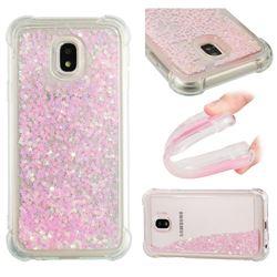 Dynamic Liquid Glitter Sand Quicksand TPU Case for Samsung Galaxy J3 2017 J330 Eurasian - Silver Powder Star