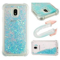 Dynamic Liquid Glitter Sand Quicksand TPU Case for Samsung Galaxy J3 2017 J330 Eurasian - Silver Blue Star