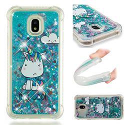 Tiny Unicorn Dynamic Liquid Glitter Sand Quicksand Star TPU Case for Samsung Galaxy J3 2017 J330 Eurasian