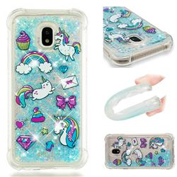 Fashion Unicorn Dynamic Liquid Glitter Sand Quicksand Star TPU Case for Samsung Galaxy J3 2017 J330 Eurasian