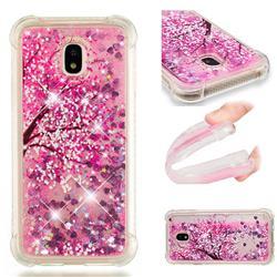 Pink Cherry Blossom Dynamic Liquid Glitter Sand Quicksand Star TPU Case for Samsung Galaxy J3 2017 J330 Eurasian