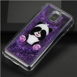 Naughty Panda Glassy Glitter Quicksand Dynamic Liquid Soft Phone Case for Samsung Galaxy J3 2017 J330 Eurasian