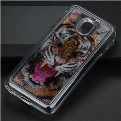Tiger Glassy Glitter Quicksand Dynamic Liquid Soft Phone Case for Samsung Galaxy J3 2017 J330 Eurasian