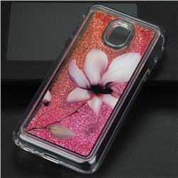 Lotus Glassy Glitter Quicksand Dynamic Liquid Soft Phone Case for Samsung Galaxy J3 2017 J330 Eurasian