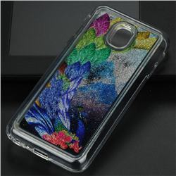 Phoenix Glassy Glitter Quicksand Dynamic Liquid Soft Phone Case for Samsung Galaxy J3 2017 J330 Eurasian