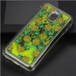 Pineapple Glassy Glitter Quicksand Dynamic Liquid Soft Phone Case for Samsung Galaxy J3 2017 J330 Eurasian