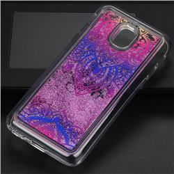 Blue and White Glassy Glitter Quicksand Dynamic Liquid Soft Phone Case for Samsung Galaxy J3 2017 J330 Eurasian
